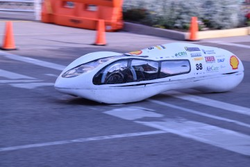 Students race low-emission cars in downtown Detroit