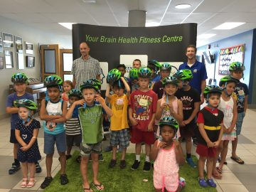 Dr. Peter Cripton teaches kids about helmets and brain health