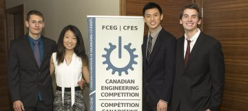 Engineering student team places second in national design competition