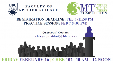 Three Minute Thesis Registration Deadline and Practice Session!