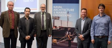 Brian Carter, President and CEO of Seaspan Shipyards, Visits the NAME Program