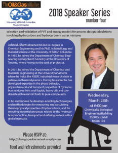 March 28th, 2018 – The Oil & Gas Initiative Speaker Series: Dr. John M. Shaw