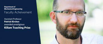 Dr. Patrick Kirchen Wins Prestigious Killam Teaching Prize