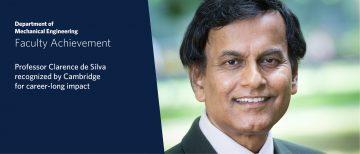 Cambridge Recognizes Dr. Clarence de Silva with Prestigious Higher Doctorate