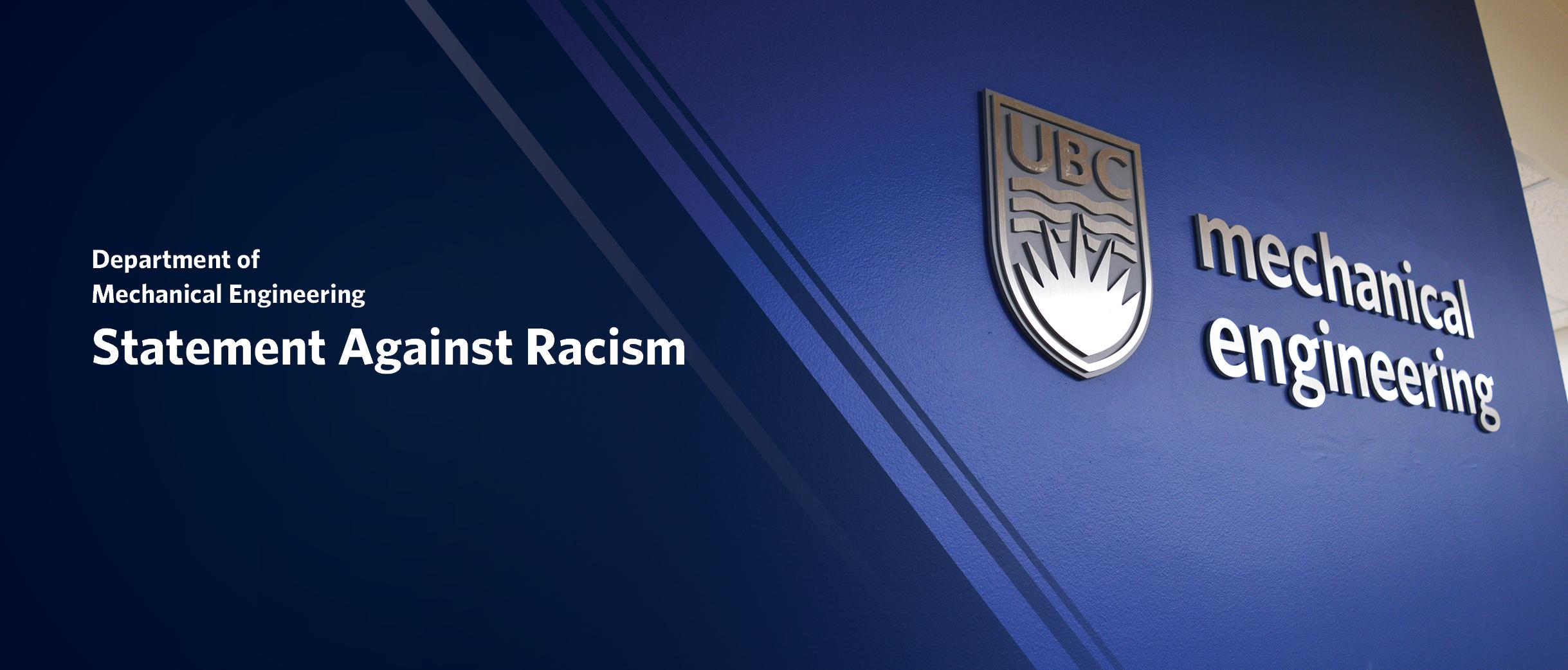 MECH Statement Against Racism