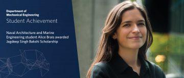 Jagdeep Singh Bakshi Scholarship awarded to MEng student Alice Brais